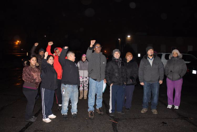 Boston Globe delivery workers protest