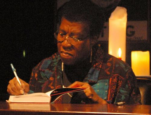 Octavia E. Butler signing a copy of Fledgling, 2005.