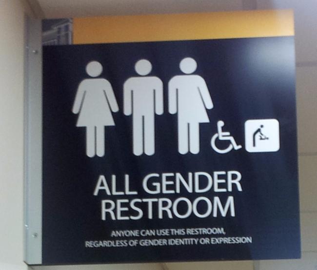 Pictogram for an all gender restroom