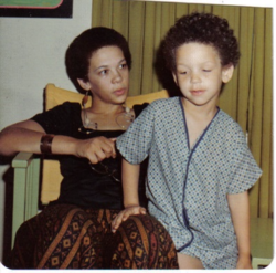 Me and my son Vincent, circa 1970s