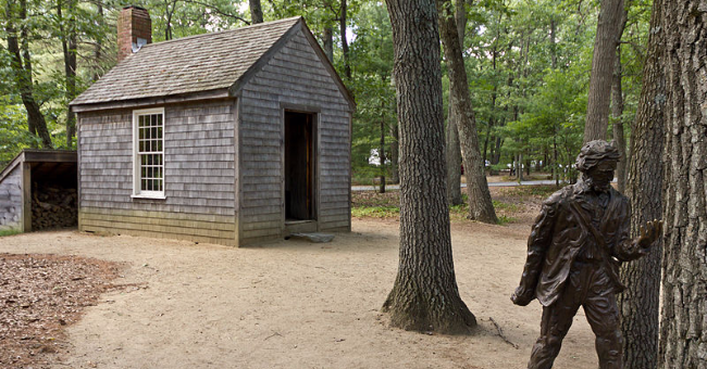 Replica of Thoreau's cabin near Walden Pond