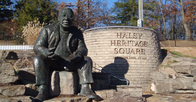 Twelve-foot bronze statue of Alex Haley