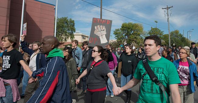 Black Lives Matter protest against St. Paul police brutality