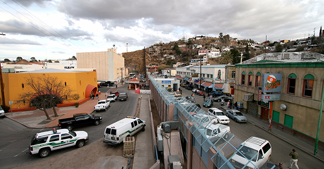 Mexican-American border at Nogales