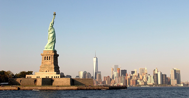 Statue of Liberty and NY skyline
