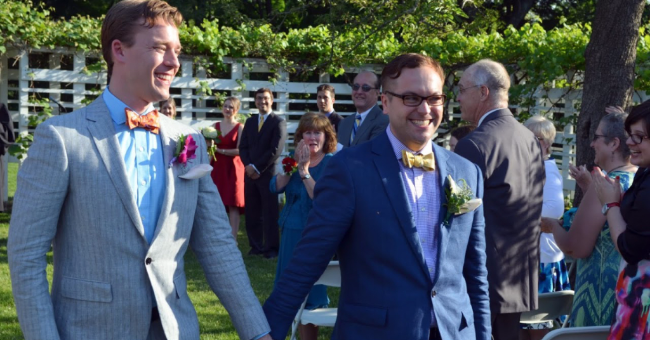 Wedding of Nicholas DiSabatino and his husband Josh