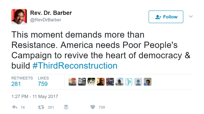 Rev Barber Tweet