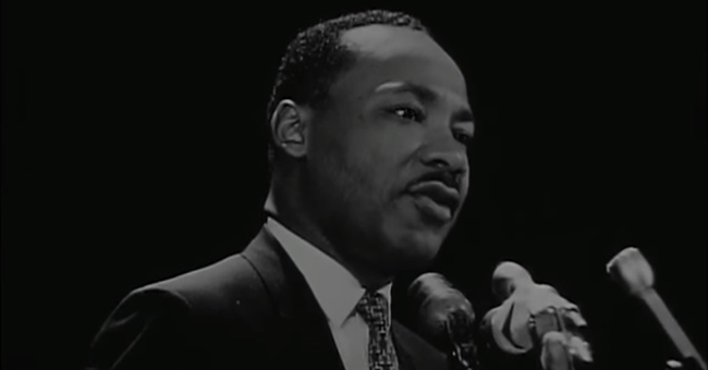 "Martin Luther King, Jr. delivers his ""The Other America"" speech at Stanford University, April, 14, 1967"