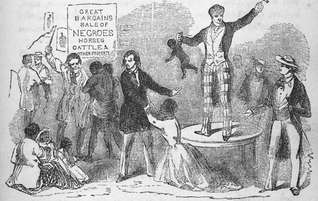 Husbands, wives, and families sold indiscriminately to different purchasers, are violently separated ; probably never to meet again, 1853
