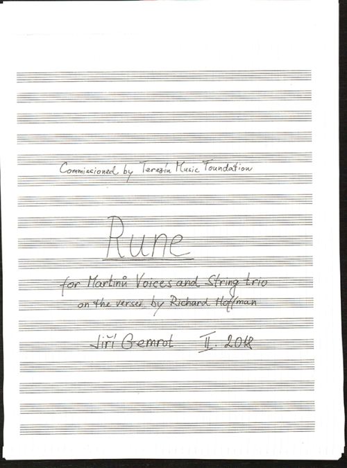 Cover page of Rune by Jiří Gemrot