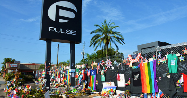 Memorials left at the Pulse nightclub in Orlando, Florida