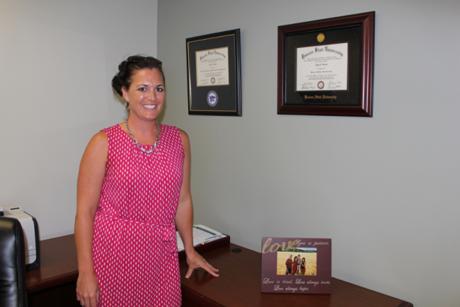"""City Manager Amy Lange, part of Cloud County's """"changing of the guard."""""""