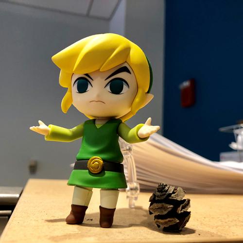 Figurine of Link from The Legend of Zelda