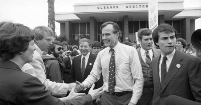 George H. W. Bush campaigning in Melbourne, FL
