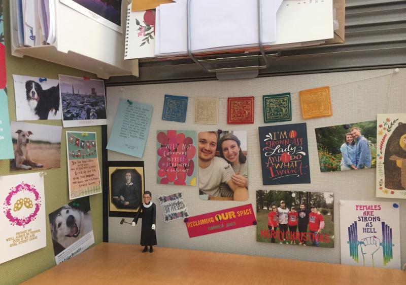 Emily Power's office desk