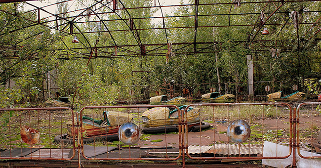 Amusement park at Pripyat near the Chernobyl Plant, now abandoned, Ukraine, September 2013.