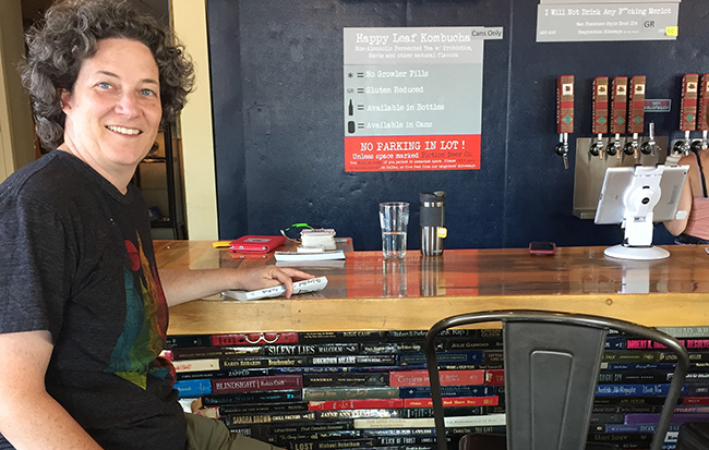Beth Collins at the Fiction Beer Company in Denver CO