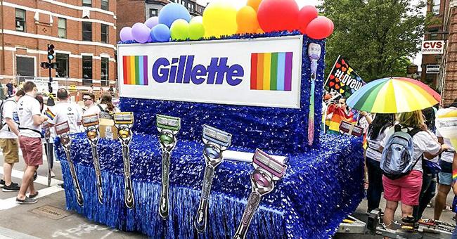 Gillette at the 2018 Boston Pride Parade