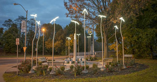 American Civic Association Memorial Park at dusk. Photo credit: Michael Marsland