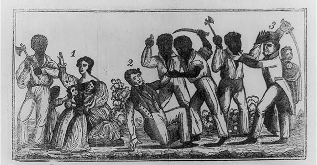 19th Century woodcut depiction of the Southampton Insurrection