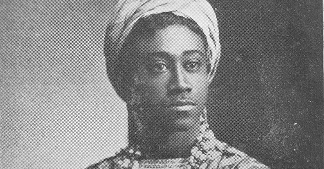 "Walter Brister as Armmah Sotanki, leader of the Sotanki's troupe of ""Hindoo"" fakirs starting in 1898."
