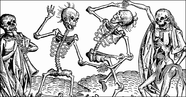 """The Dance of Death"" (1493) by Michael Wolgemut, from the Nuremberg Chronicle of Hartmann Schedel."