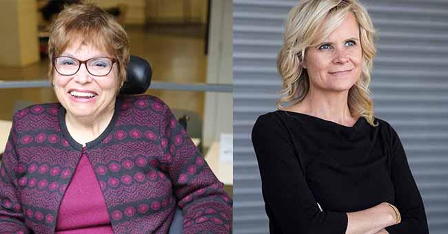 Judith Heumann and Kristen Joiner