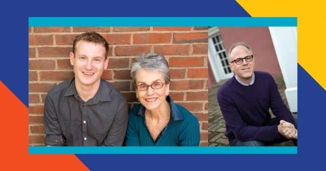 From left to right: Adam Eichen, Frances Moore Lappé, David Daley
