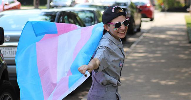 Trans boy celebrating Pride