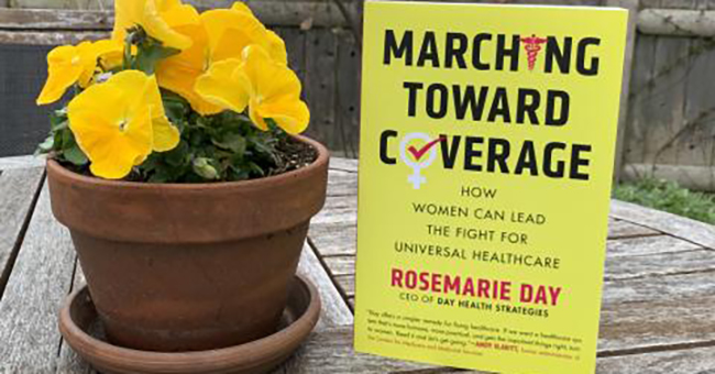 Rosemarie Day book with flowers