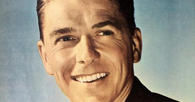 Ronald Reagan, 1945. Source: Modern Screen.