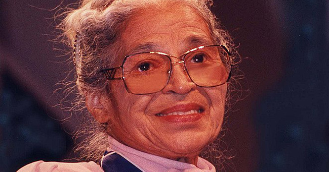 Rosa Parks after receiving the Presidential Medal of Freedom from President Clinton, Washington, DC, 1996