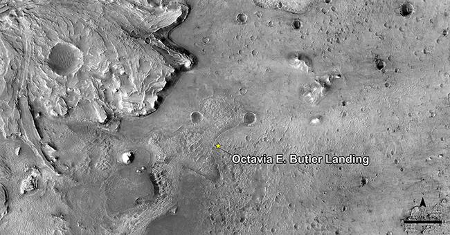 Mars Perseverance Rover - Octavia E. Butler - Landing Site In Jezero Crater - March 5, 2021