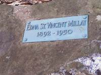 The grave marker of Edna St. Vincent Millay at Steepletop. Photo by Helene Atwan